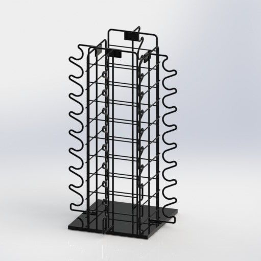 Sunglasses Eyewear Metal Counter Display Stands With Rotated Base